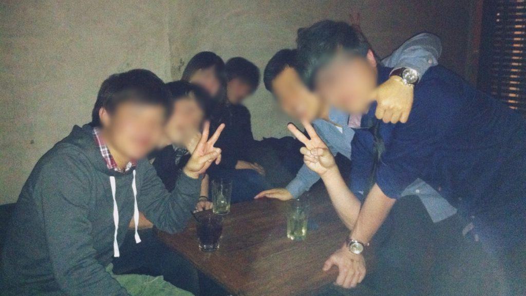 クラブでの飲み会